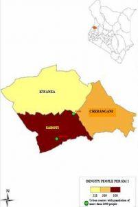 Trans Nzoia County Map