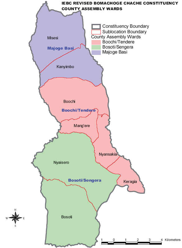 Bomachage Chache Constituency Map