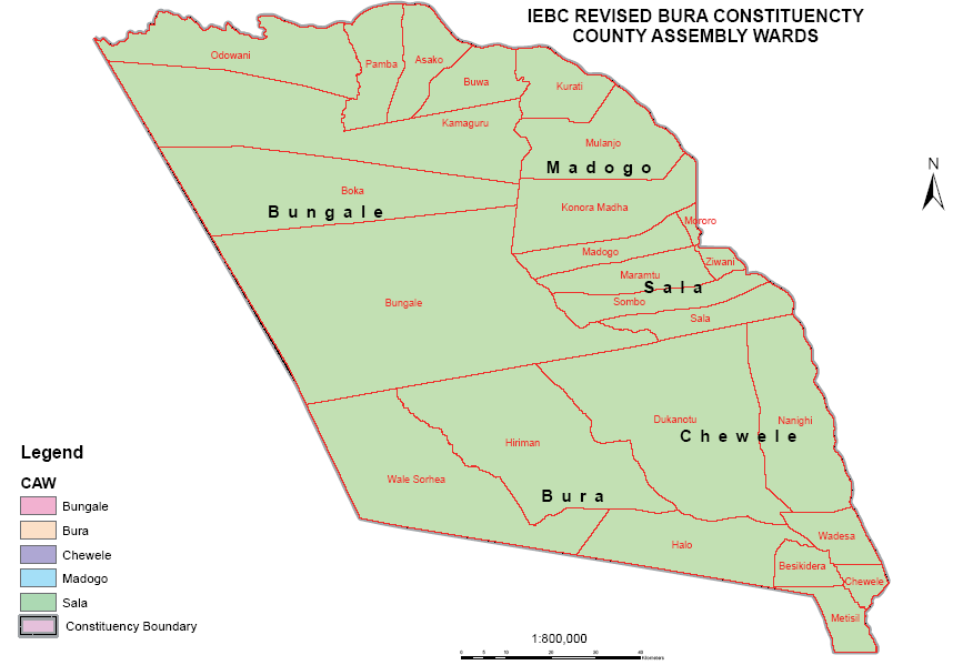 Bura Constituency Map