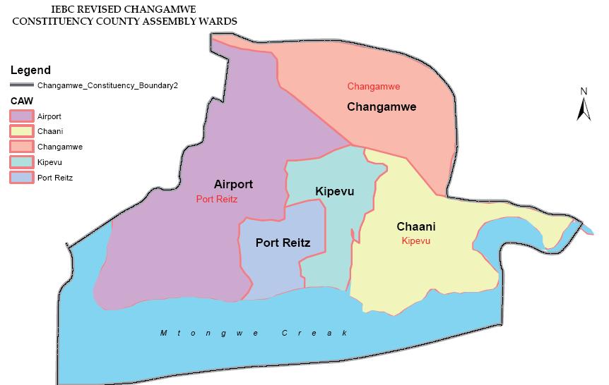 Changamwe Constituency Map