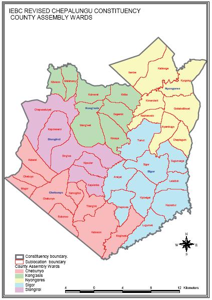 Chepalungu Constituency Map