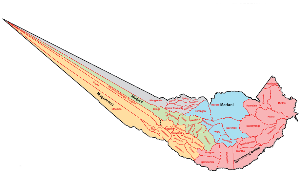 Chuka-Igambang'ombe Constituency Map