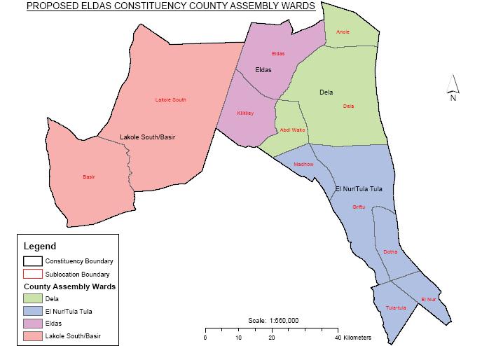 Eldas Constituency Map