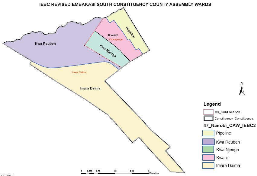Embakasi South Constituency Map
