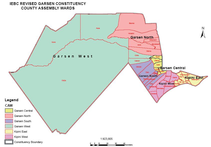 Garsen Constituency Map