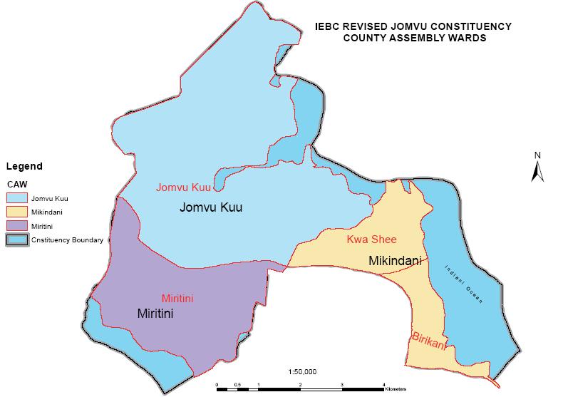 Jomvu Constituency Map