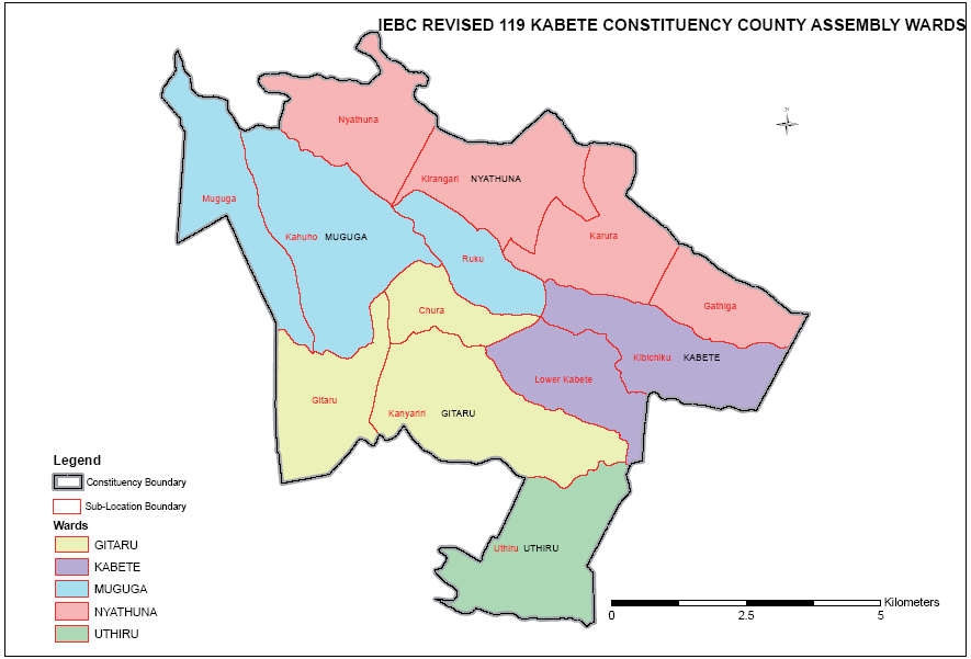 Kabete Constituency Map