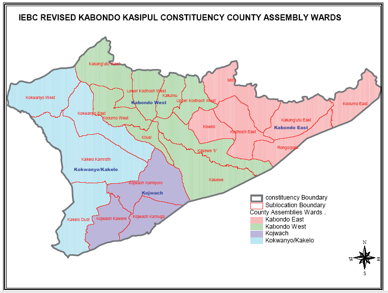 Kabondo Kasipul Constituency Map