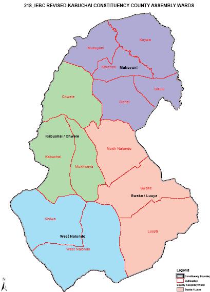 Kabuchai Constituency Map