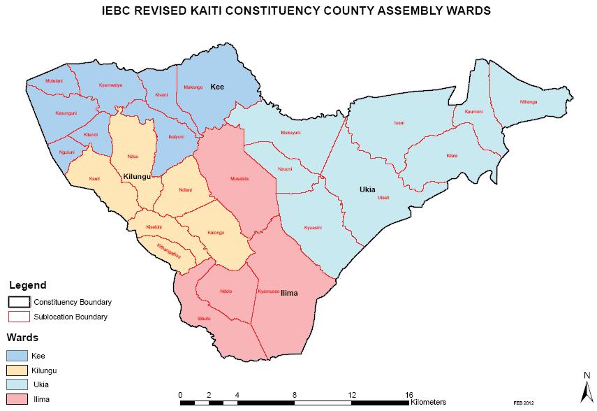 Kaiti Constituency Map
