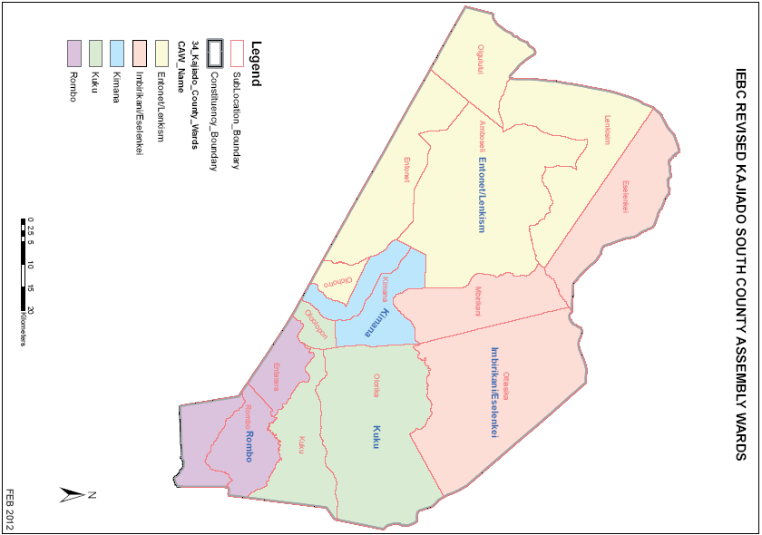 Kajiado South Constituency Map