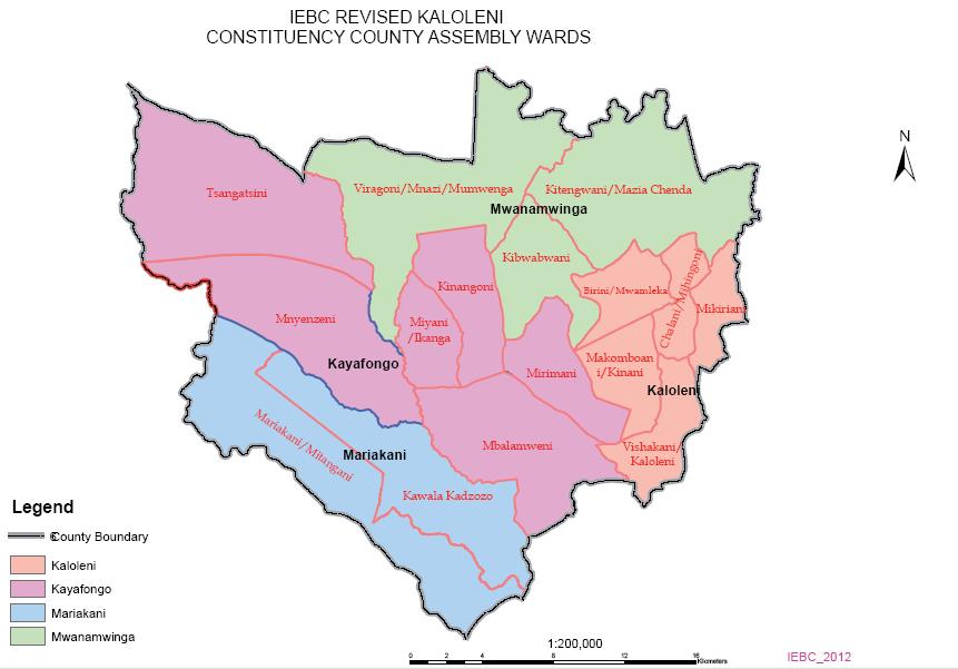 Kaloleni Constituency Map