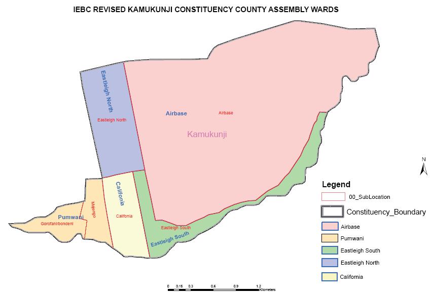 Kamukunji Constituency Map