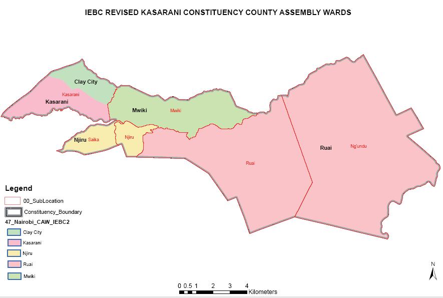 Kasarani Constituency Map