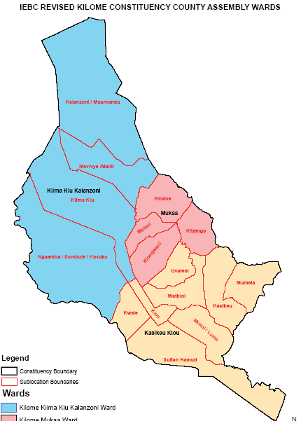 Kilome Constituency Map