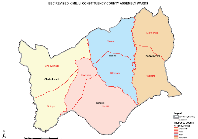 Kimilili Constituency Map