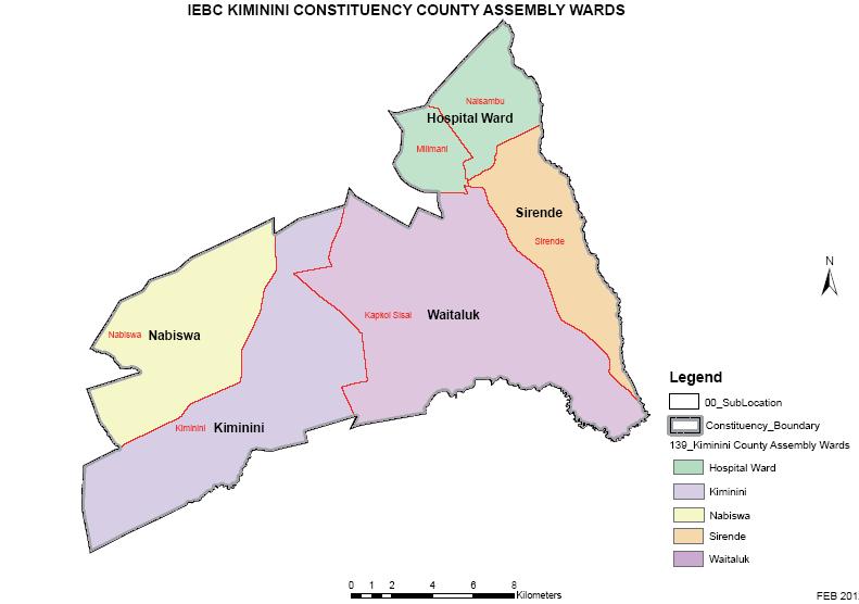 Kiminini Constituency Map
