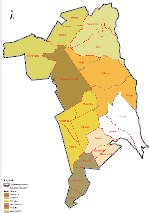 Kinango Constituency Map