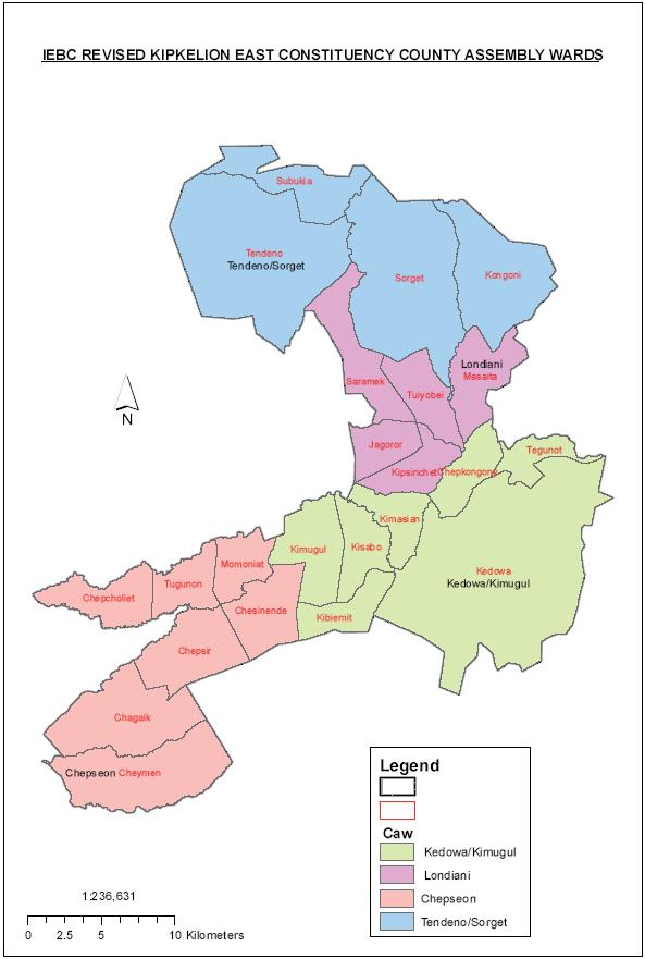 Kipkelion East Constituency Map