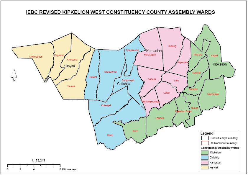 Kipkelion West Constituency Map