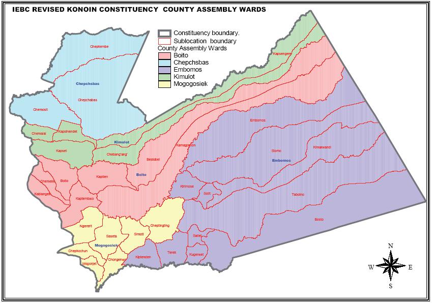 Konoin Constituency Map
