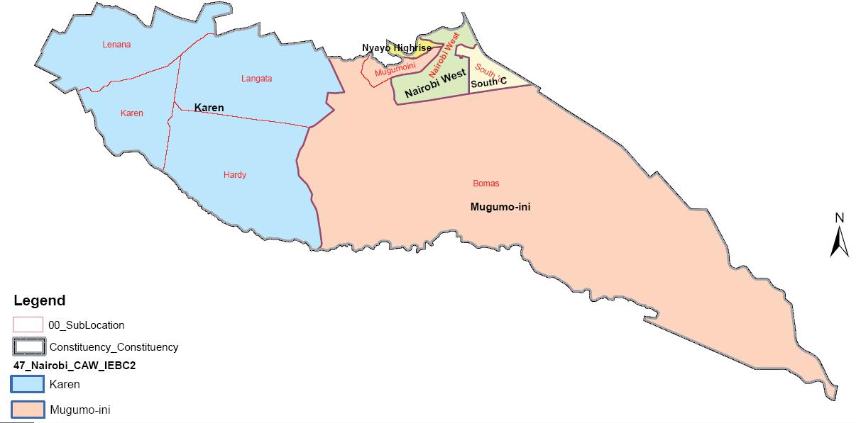 Langata Constituency Map