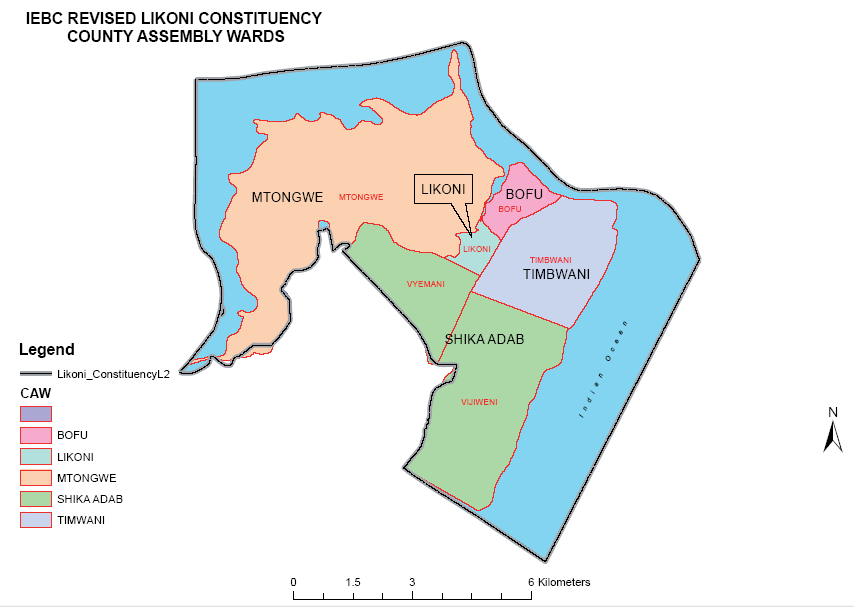 Likoni Constituency Map