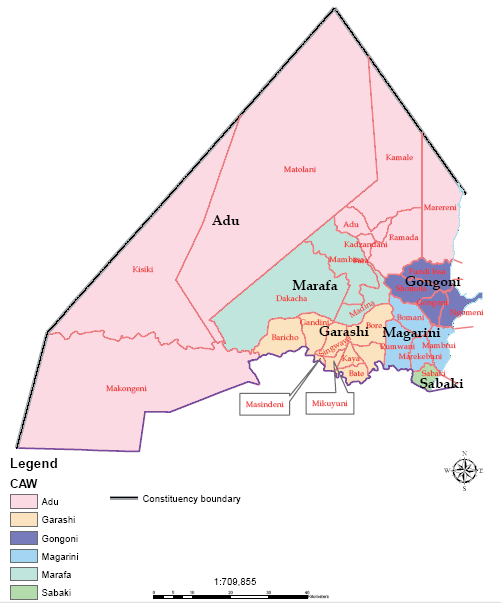 Magarini Constituency Map