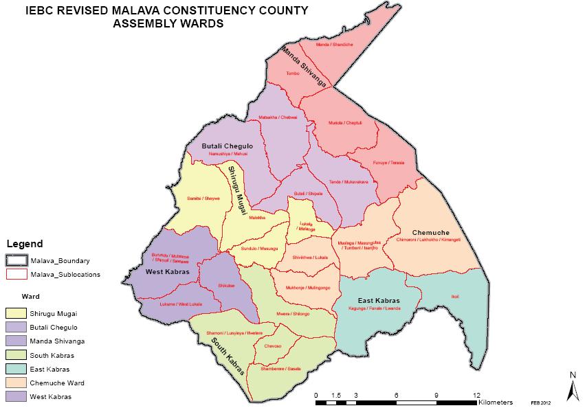Malava Constituency Map