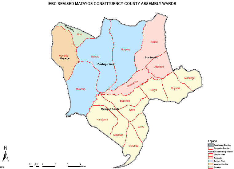 Matayos Constituency Map