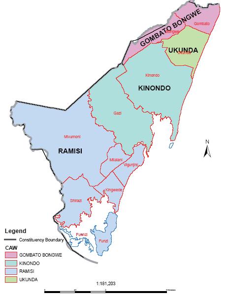 Msambweni Constituency Map