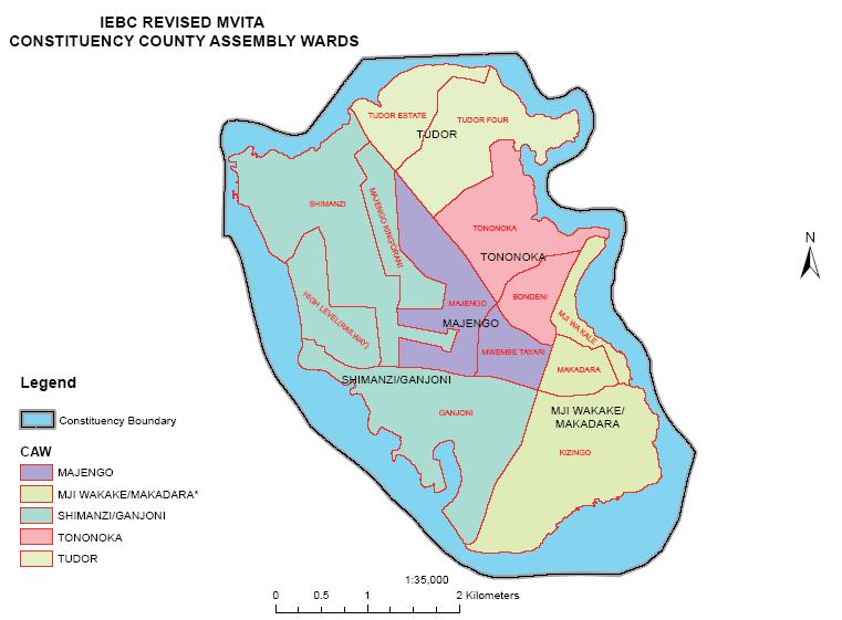 Mvita Constituency Map