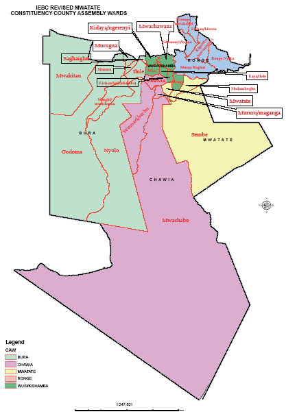 Mwatate Constituency Map