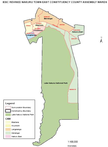 Nakuru Town East Constituency Map