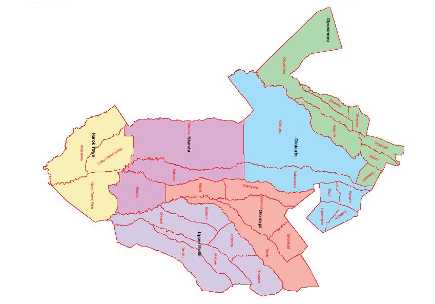 Narok North Constituency Map