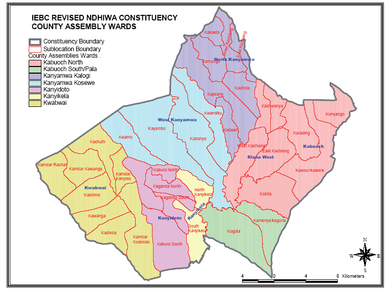 Ndhiwa Constituency Map