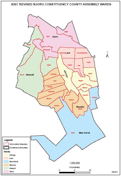 Njoro Constituency Map