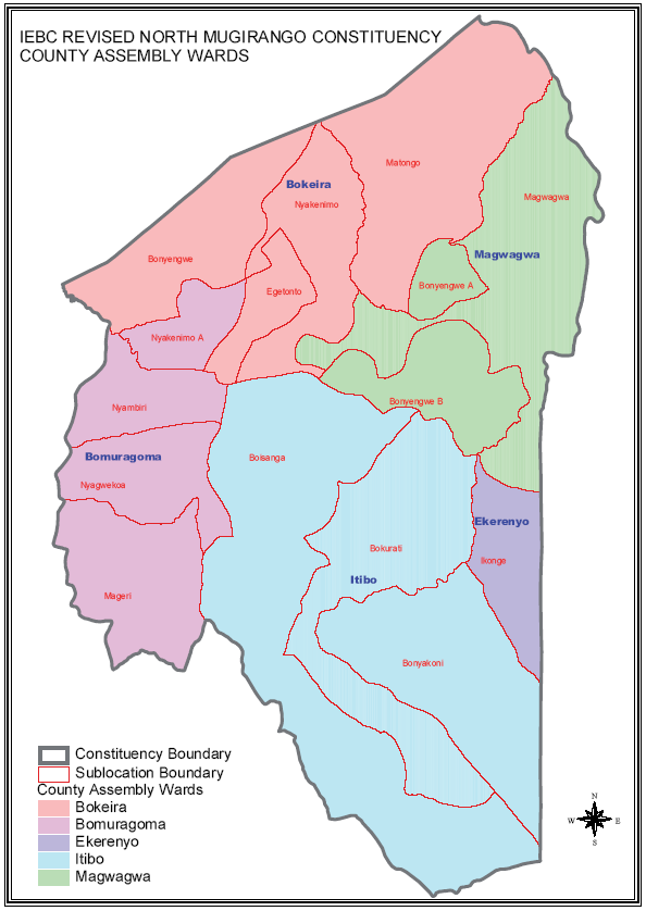 North Mugirango Constituency Map