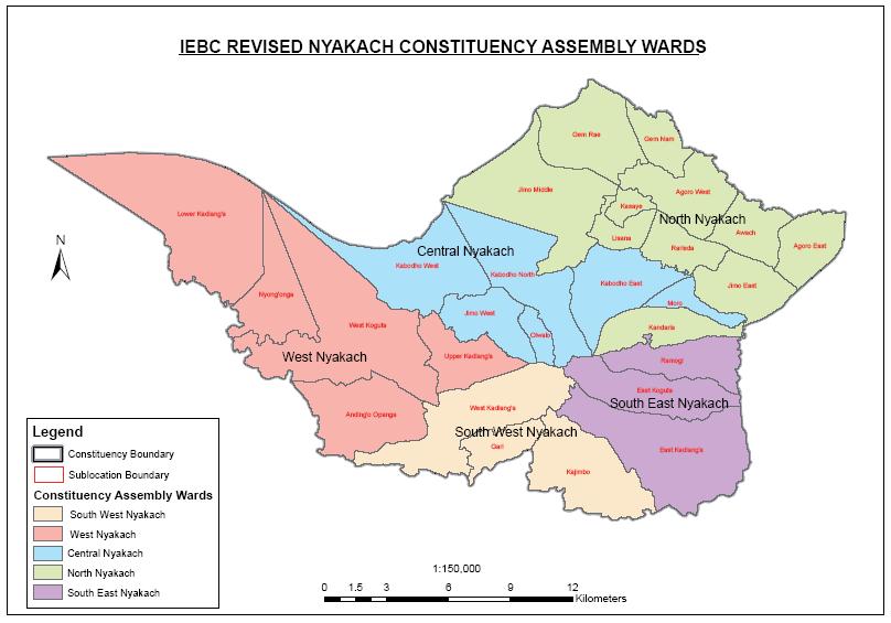 Nyakach Constituency Map