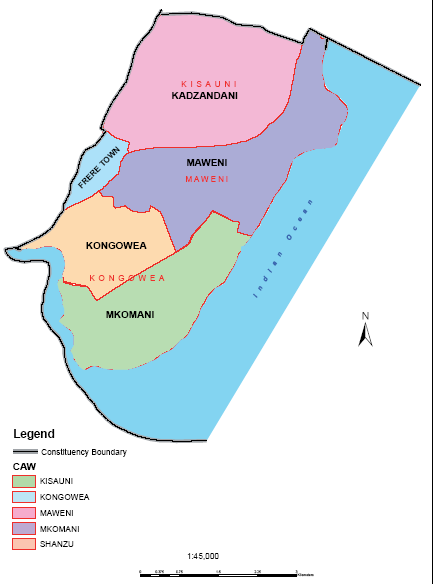 Nyali Constituency Map
