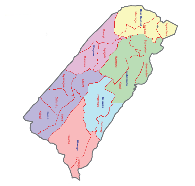 Nyaribari Chache Constituency Map