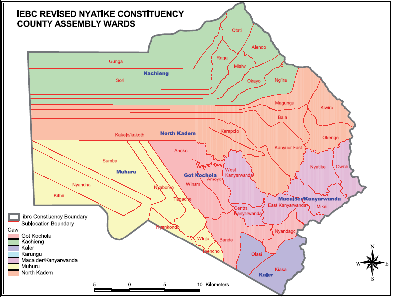 Nyatike Constituency Map