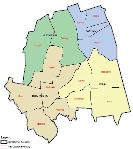 Ol Jorok Constituency Map