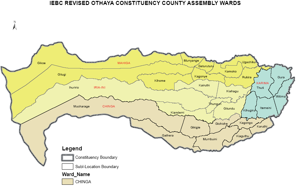 Othaya Constituency Map