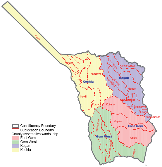 Rangwe Constituency Map