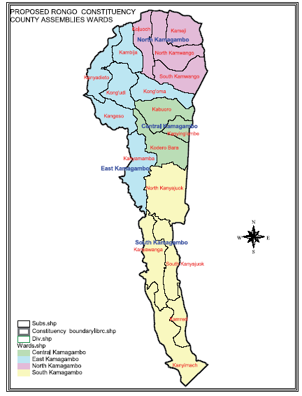 Rongo Constituency Map