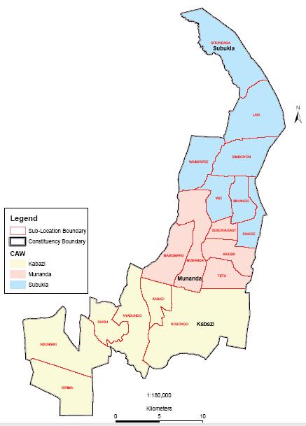 Subukia Constituency Map