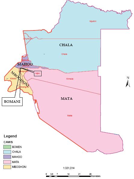Taveta Constituency Map