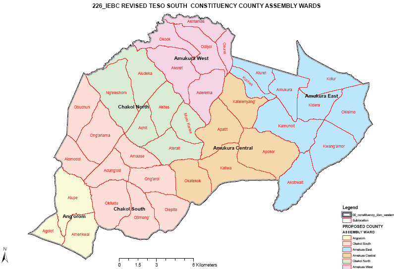 Teso South Constituency Map