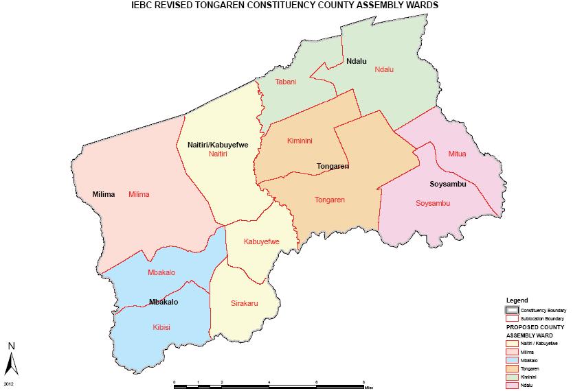 Tongaren Constituency Map